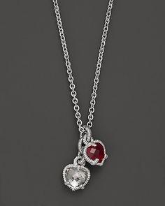 "Judith Ripka Sterling Silver Twin Heart Necklace, 17"" | Bloomingdale's"