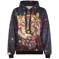 83a936492505 Tiger Galaxy Space Unisex 3D Printed Unisex Hoodie