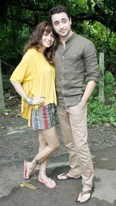 Kangana Ranaut and Imran Khan promoting 'Katti Batti'. #Bollywood #KattiBatti #Fashion #Style #Beauty #Handsome