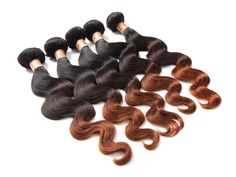 150g 1B/4/30# 3Tone Ombre Brazilian Human Hair Extensions High Quality Wefts