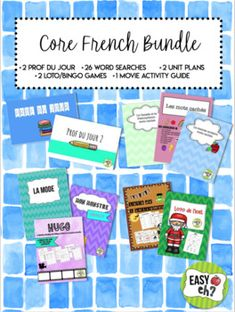 FSL / Core French BUNDLE with Unit Plans, Word... by Easy eh | Teachers Pay Teachers Interactive Writing Notebook, Common Core Writing, French For Beginners, Report Card Template, Core French, French Classroom, Vocabulary Activities, Teacher Notes, Unit Plan