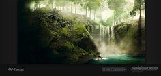 "Concept art new map ""Green Volcano"" 4  DinoStorm.com"
