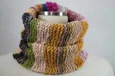 手紡ぎ糸のネックウォーマー&帽子/コリデール・メリノのスラブ糸とループ糸で・・・