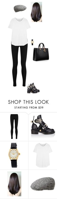 """Sem título #8230"" by gracebeckett ❤ liked on Polyvore featuring Donna Karan, Balenciaga, Rolex, Madewell and kangol"