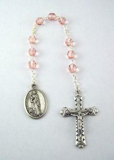 Saint Agatha Chaplet Breast Cancer by FaithHopeAndBeads on Etsy
