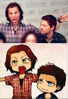 """Jared... what are you doing... Jared no... Jared stahp..."" <--Misha, your Cas is showing."