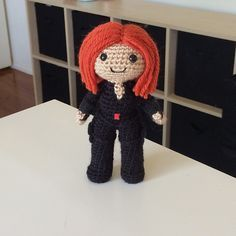 Ravelry: Black Widow Amigurumi Doll Avengers pattern by Clare Heesh