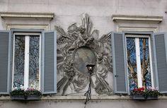 Trastevere Madonna in an elaborate frame.