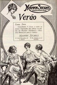 Anúncio antigo da loja Mappin - 1918