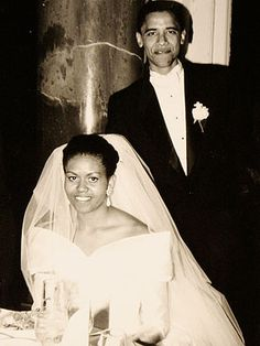 Barack and Michelle Obama on October 3, 1992 in Chicago