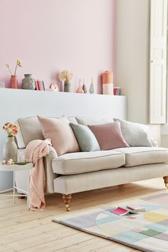The Big Velvet Home Trend | If you love the look of velvet you don't have to go all dramatic and dark it works really with softer colour palettes and contrasts beautifully with other textural fabrics such as wool and linen. #hometrends #velvet #velvetdecor #homeaccessories #interiordesign #homedecor #velvetcushions #pastels #colourinspo #interiorinspo #interiors