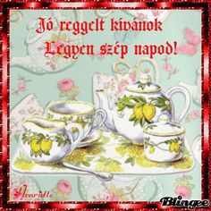 Custom Photo, Good Morning, Tea Cups, Have Fun, Animation, Creative, Buen Dia, Bonjour, Animation Movies