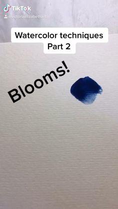 Paper Bookmarks, Watercolor Bookmarks, Watercolor Tips, Watercolor Techniques, Watercolor Flowers, Watercolor Paintings, Beautiful Notes, Circle Of Life, Painting Tutorials
