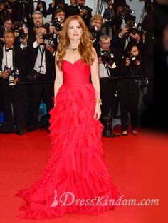 Sheath / Column Sweetheart  Celebrity Dresses By Isla Fisher At 2013 Cannes Opening Ceremony