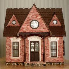 My dream dollhouse the red brick orchid orchid house for Mud brick kit homes