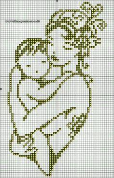 Schema punto croce mamma con bimbo monocolore seville, cross stitch baby, n Cross Stitch Letters, Cross Stitch Baby, Cross Stitch Charts, Beading Patterns, Embroidery Patterns, Stitch Patterns, Crochet Patterns, Needlepoint Patterns, Cross Stitching