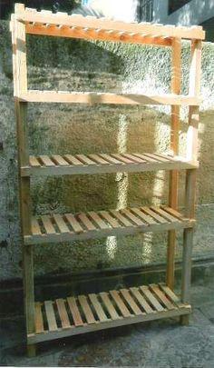 Estanteria De Madera De Pallet - $ 350,00