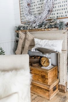 Christmas Decor A Great Pin For Farmhouse Cottage Style Home Decor