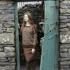 Windermere from Lakeland by Marie Wallin. A  Fairisle design handknitted in Rowan Fine Tweed