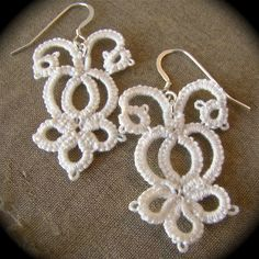 Tatted Lace Earrings - The Bride's Garden