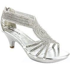 V-Luxury Womens Open Toe Med Heel Wedding Sandal Shoes