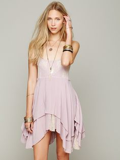 pierced lace tunic in pale wisteria via free people. all the delicate little details are just beauuutiful.