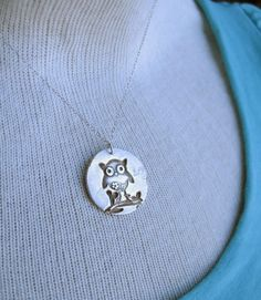 Owl necklace by truche