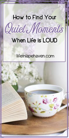 How to Find Your Quiet Moments When Life Is LOUD - Life in Lape Haven. As moms, we all have days when the demands of our family are constant, the noise is incessant, and all we need is a quiet moment to focus, breathe, and hear God's voice. I've been finding those instances of calm more often lately. Here's how. #site:financialinfo.site