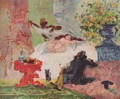 Una Olympia Moderna. Cuadro de Cezanne. Francia