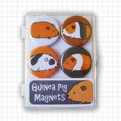 Guinea Pigs Magnet Set by bubbledog on Etsy