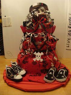 3 Tier Skater Boy Diapercake