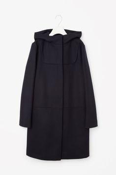 COS image 2 of Wool duffle coat in Navy