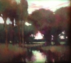 "Evening Softens by Teresa Saia Pastel ~ 8"" x 8"""