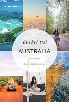 Australian Bucket List