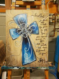 Super painting ideas on canvas acrylic cross 61 ideas - Painting Ideas On Canvas Cross Canvas Paintings, Easy Canvas Painting, Spring Painting, Diy Canvas, Diy Painting, Cross Canvas Art, Acrylic Canvas, Painted Cross Canvas, Canvas Ideas