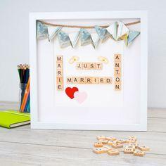 Bilderrahmen sind hervorragend als Hochzeitsgeschenke geeignet. Geldgeschenke können einfach und kreativ im Objektrahmen platziert werden. Diese Geschenkidee ist leicht im Bilderrahmen umzusetzen.