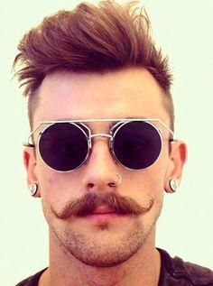 bigode handlebar Bigode Handlebar, Óculos Masculinos, Bigodes, Óculos  Redondos, Óculos Da Moda bb2194a1a8