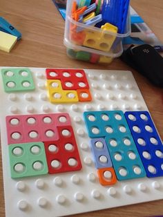 Pieces to make a square. The aim of the activity is to use the least number of Numicon pieces to make the square. Very good visual perceptual skills development.Where can I find this? Maths Eyfs, Preschool Math, Fun Math, Math Games, Teaching Math, Learning Numbers, Math Numbers, Numicon Activities, Numeracy