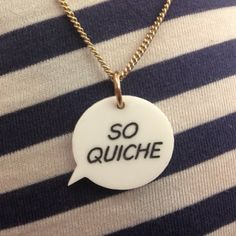 We're big fans of Chris Lilley, so we had to make this Ja'mie Private Schoolgirl inspired Speech Bubble Necklace...!