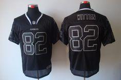 NFL Nike Elite Dallas Cowboys #82 Jason Witten Lights Out Black Jersey