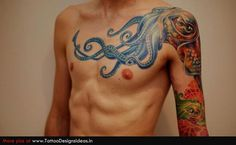 Color - Octopus tattoo