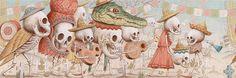 skulls, drawings, bone art, dead illustr, illustrations, art shake, nick sheehi, anatom art, artist inspir