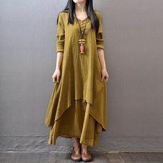 Material : Cotton, Linen Color : Yellow, Green, White,Red Size : L - XL - XXL  Detail Size : Size L Bust : 96cm Shoulder : 39cm Sleeve : 58cm Waist :