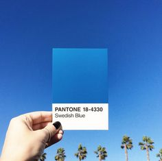 In looking up at a vibrant blue sky, @mstetsondesign was inspired to alternate gradients with PANTONE 18-4330.