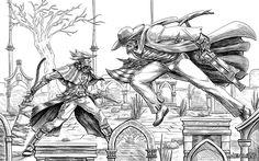 Bloodborne: Father Gascoigne vs the Good Hunter by MenasLG.deviantart.com on @DeviantArt