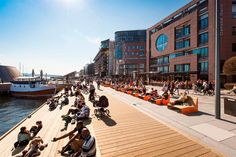 Aker Brygge wharf - Popular area along the inner harbour with restaurants, shopping, apartments and office buildings. After a thorough renovation, the area has a...