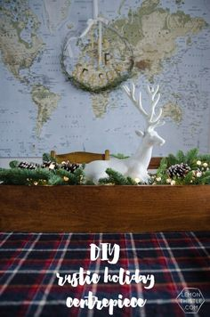 this holiday centrepiece is something i love for christmas but i can change out the greens and decor in it to go with the season the rustic charm is too arts crafts rustic charm