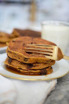 chocolate chip pumpkin pancakes
