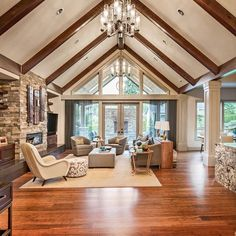 The perfect balance of rustic and chic! Step inside this inviting living room and you'll never want to leave.