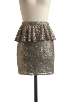 Bronze and Brains Skirt. You know youve already got it all - great friends, superb style, big dreams and a savvy intellect! #grey #wedding #modcloth